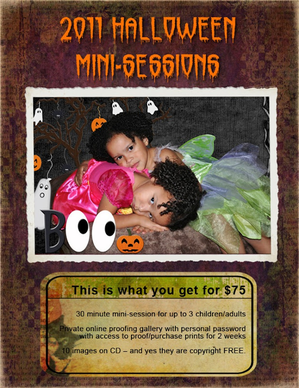 2011 Halloween Mini Session_Flyer