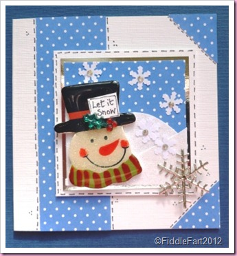 Let It Snow Snowman Christmas Card