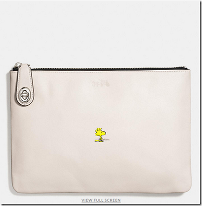 COACH X Peanuts medium folio - USD 150 - silver chalk