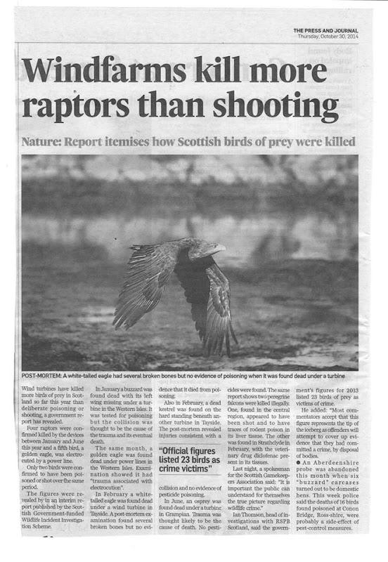 Press & Journal Raptor Deaths