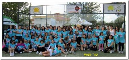 Finaliza con éxito la IV edicíón del Woman & Padel 2012 en el Club El Corzo de Badajoz.