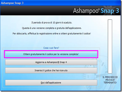 Ashampoo Snap 3 Ottieni gratuitamente il codice per la versione completa!