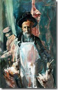 2. Rabbi with Chickens, 2010. Oil on Canvas. 36 x 24 in