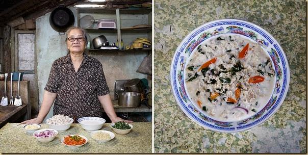 Portraits de grand-mères et leurs plats cuisinés (3)