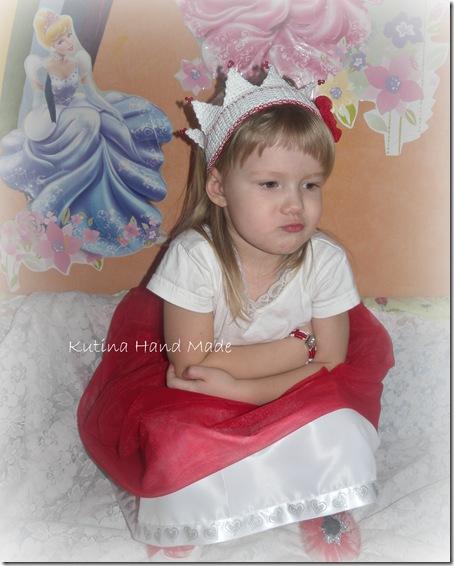 юбка красная принцесса 088
