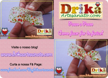 11 Passo a Passo como fazer fuxico Drika Artesanato post