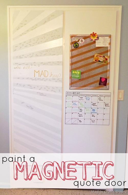 paint a magnetic quote door