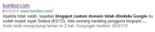 url blogspot custom domain tidak diindeks google
