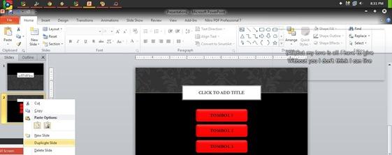Membuat Efek Hover dengan PowerPoint