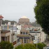 Looking out to the Palace of Fine Arts (Exploratorium)