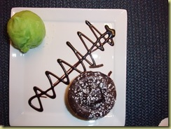 Food apple icecream hot chocolate cake