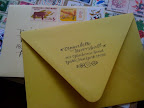 here is an example of a return address that was then made into a rubber stamp.