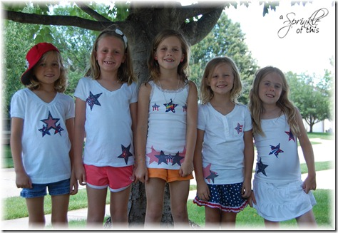 4th of July Shirts Front {A Sprinkle of This . . . . A Dash of That}