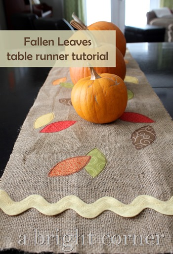 fallen leaves table runner tutorial
