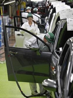 Toyota tem a meta de vender 900 mil carros na China