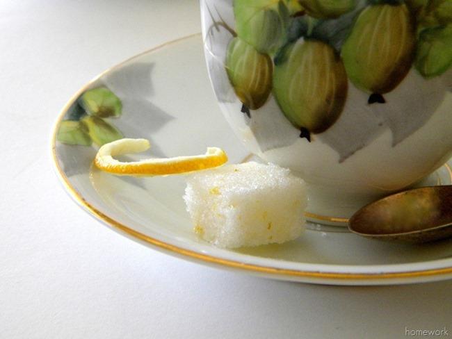 Homemade Lemon Sugar Cubes via homework | carolynshomework.com