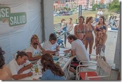El campamento sanitario, ubicado en Costanera y Hernandarias