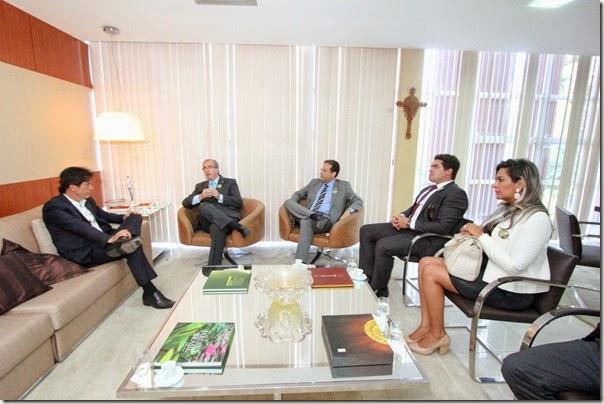 15.01 Visita de cortesia do deputado do RJ, Eduardo Cunha - Foto Rayane Mainara (2)