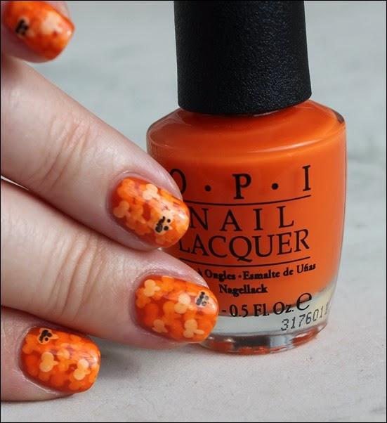 Halloween Pumpkin Kürbis Nail Art Nageldesign 04
