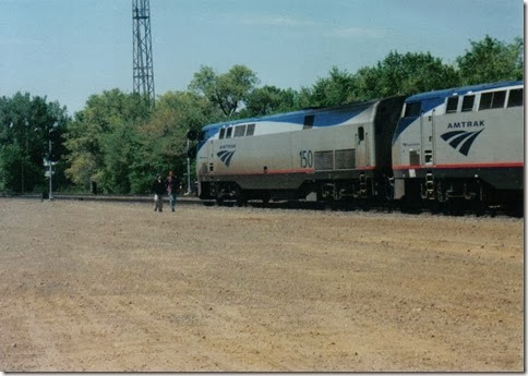 Amtrak P42DC #150 in Minot, North Dakota in December 2001
