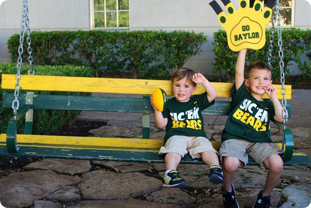 Nash's 1st day of School & Baylor Game 023