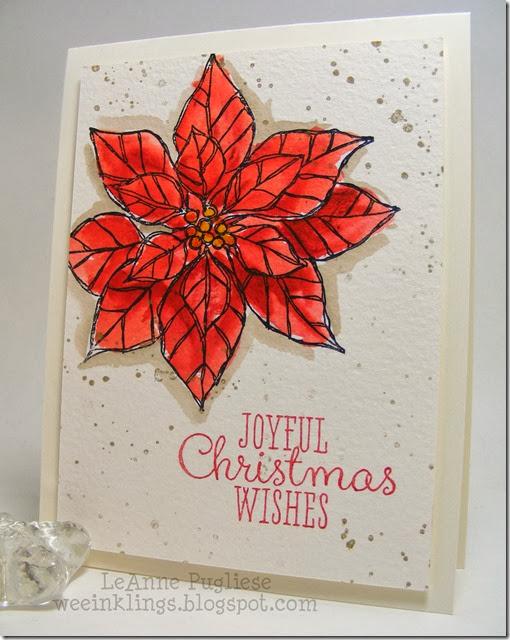 LeAnne Pugliese WeeInklings Joyful Christmas Watercolor Stampin Up