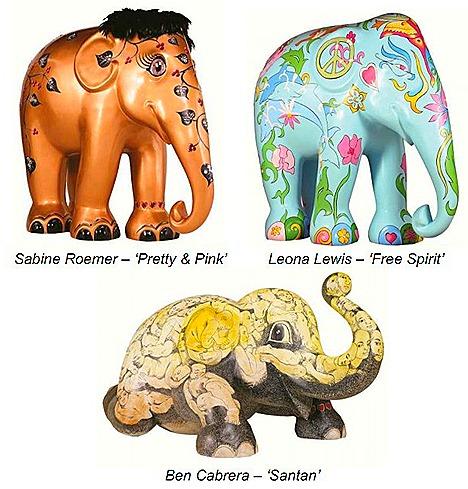 ELEPHANT PARADE SINGAPORE  TANGS Sabine Roemer Leona Lewis