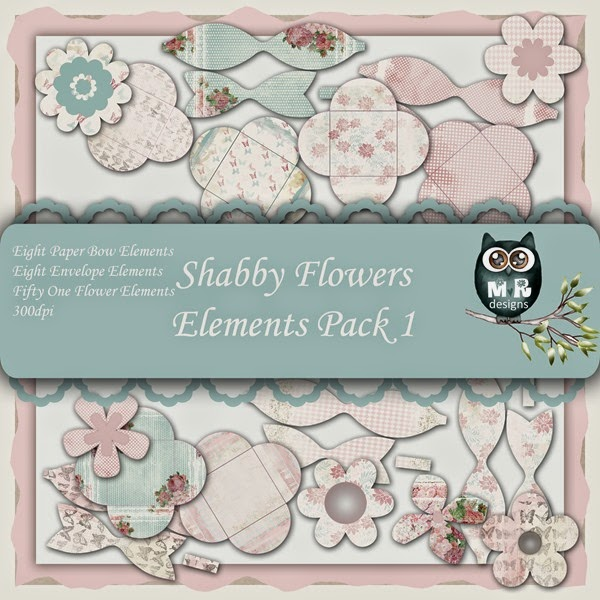 Shabby Flowers Elements Front Sheet Pack 1