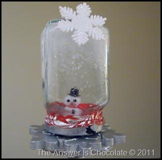 Snow Man Globe