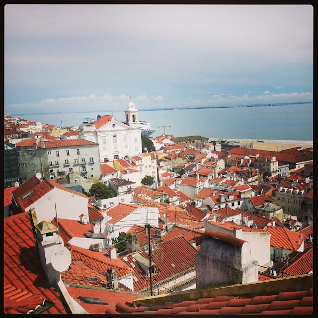 View from Saint George's Castle or, Castle of São Jorge