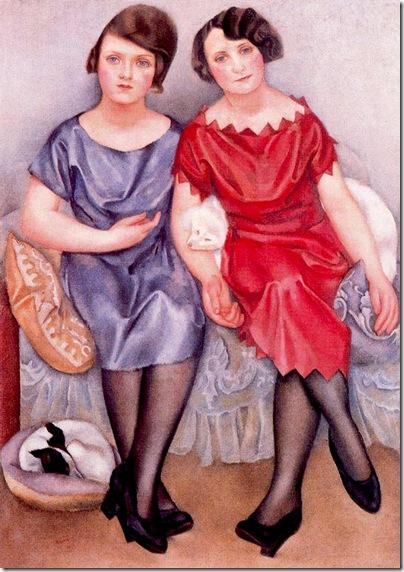 Josep de Togores i Llach -Retrato de las señoritas Godon_ 1921