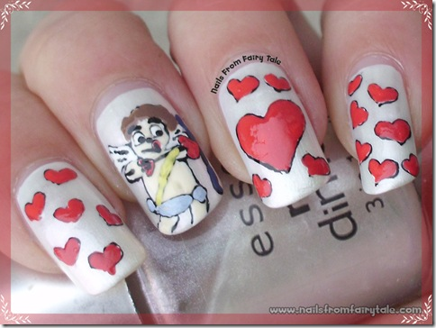 cupid nail art 2