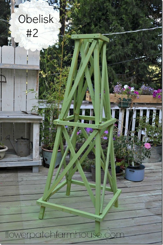 Backwoods cottage make an easy obelisk 2 for Garden obelisk