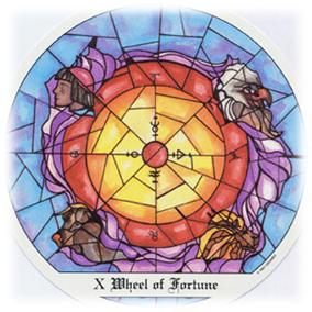 La Rueda de la Fortuna, Tarot de Cloister