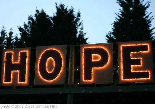&#39;HOPE&#39; photo (c) 2009, DieselDemon - license: http://creativecommons.org/licenses/by/2.0/