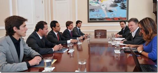 Reunión con el Presidente Santos