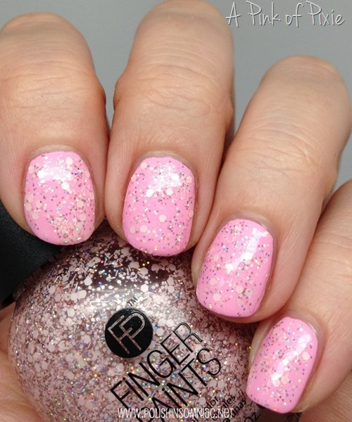 FingerPaints A Pink of Pixie over Sprintime Bloom