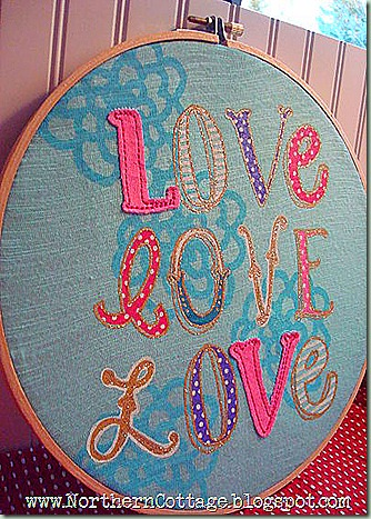 hoop art - aqua love
