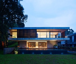 fachada moderna casa en singapur