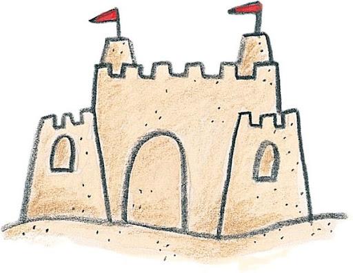 Dibujos de castillos de arena castillos en la playa - Castillos para ninos de infantil ...