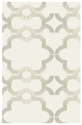 I think this paper would be so pretty on a dining-room ceiling. (kremelife.com)