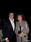 Iván Gancedo con Joan Collins en Palm Springs.