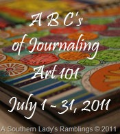 art journaling 101 button