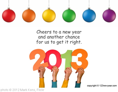 'Happy New Year 2013' photo (c) 2012, Mark Kens - license: http://creativecommons.org/licenses/by/2.0/