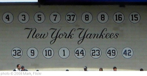 'NY Yankees retired Numbers' photo (c) 2008, Mark - license: http://creativecommons.org/licenses/by-nd/2.0/