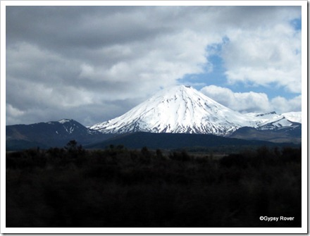 Mt Ruapehu was in hiding but we found Mt Tongariro