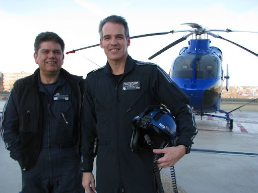 Everyday heroes: Flight paramedic Frank Perez and flight nurse Jim Lawrence have worked with CoxHealth for over 20 years each.