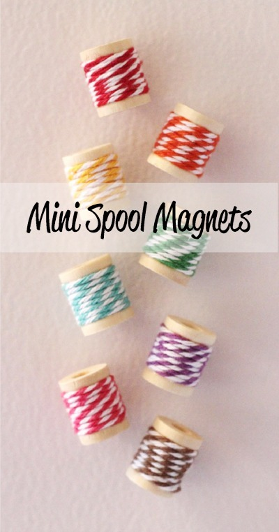 mini spool magnets at the twinery blog