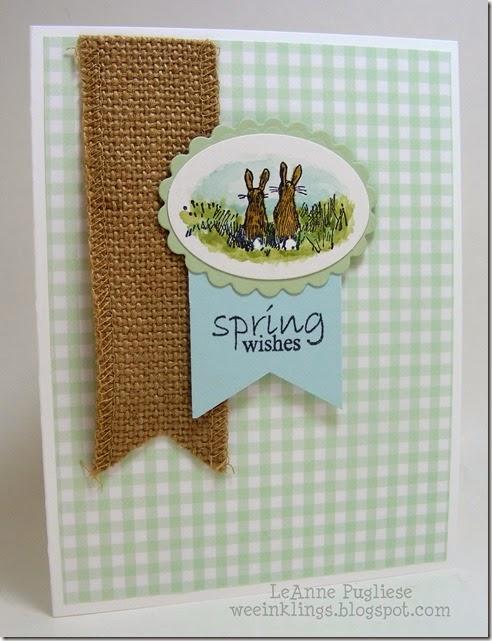 LeAnne Pugliese WeeInklings Spring Wishes 100 Proof Press Bunnies Stampin