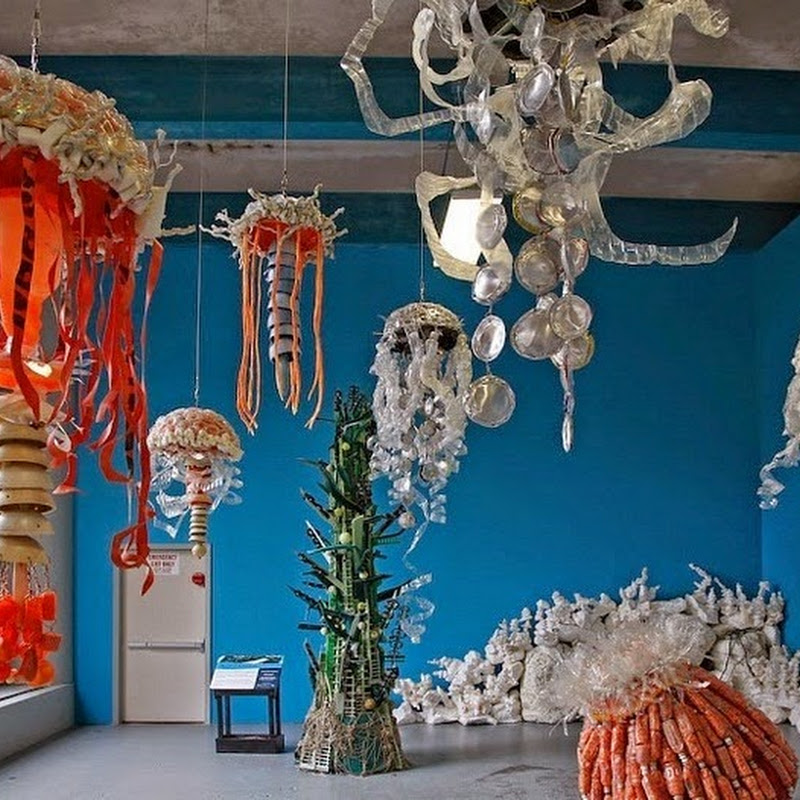 Art Made From Trash Found on Beach